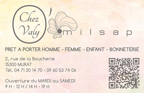 Nouvelle Version De La Carte Visite Du Magasin Valy Omilsap 2 Recto